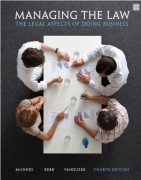 solution manual for Managing the Law: The Legal Aspects of Doing Business 4th Edition