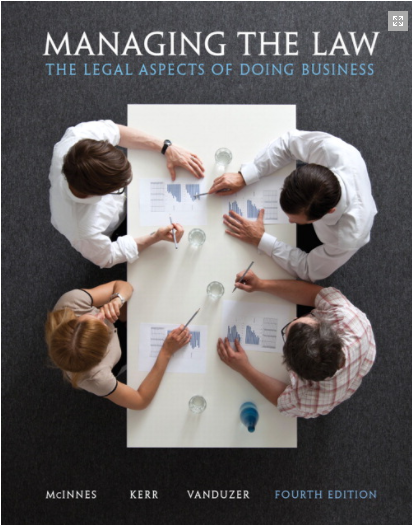 Test Bank for Managing the Law: The Legal Aspects of Doing Business 4th Edition的图片 1
