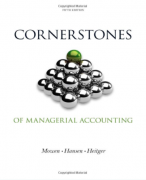 solution manual for Cornerstones of Managerial Accounting 5th Edition