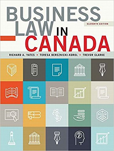 solution manual for Business Law in Canada 11th Canadian Edition的图片 1
