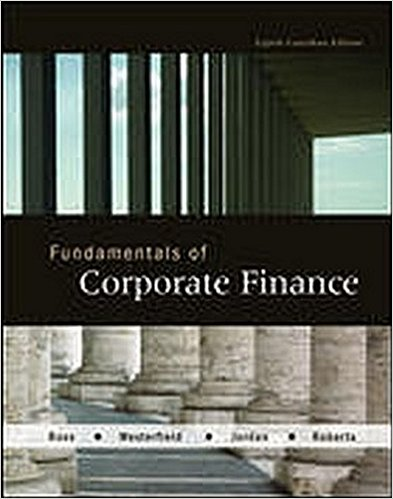 test bank for Fundamentals of Corporate Finance 8th Canadian Edition的图片 1