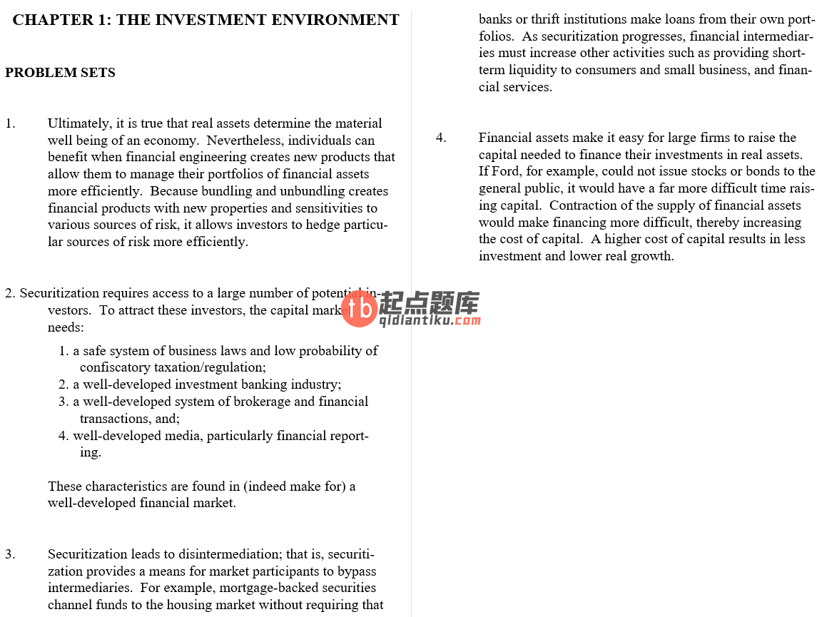 solution manual for Investments Asia Global Edition的图片 3