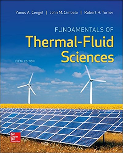 solution manual for Fundamentals of Thermal-Fluid Sciences 5th Edition的图片 1