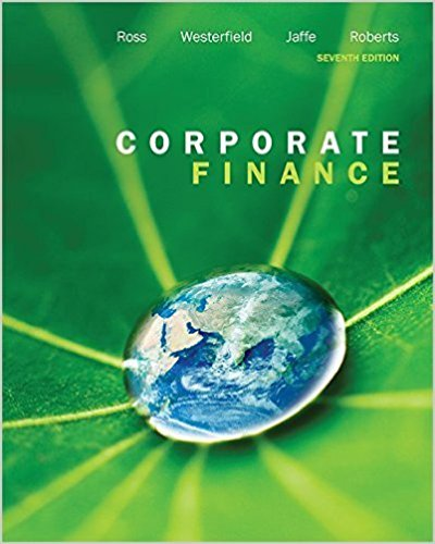 solution manual for Corporate Finance 7th Canadian Edition by Ross的图片 1