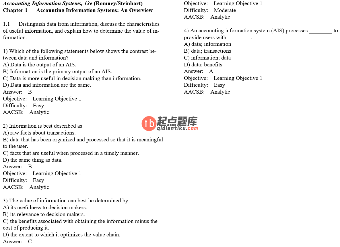 test bank for Accounting Information Systems 13th Edition的图片 3