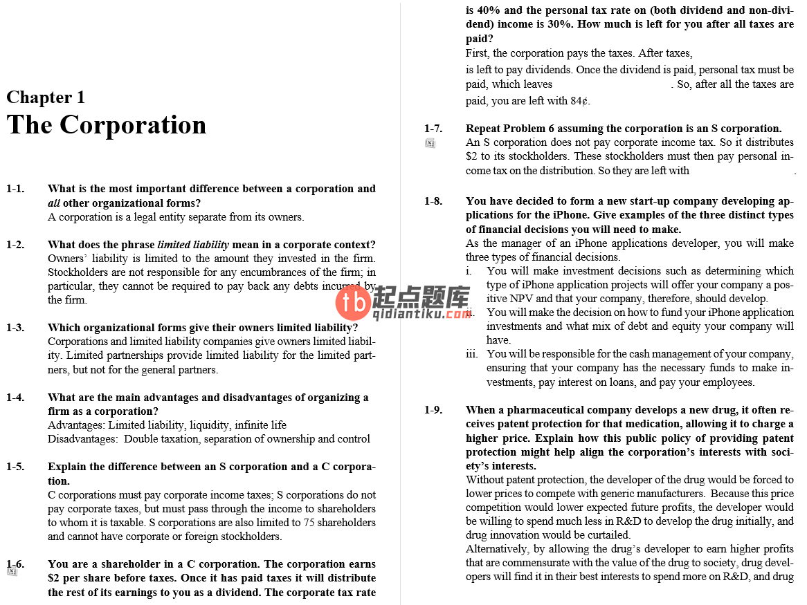 solution manual for Corporate Finance 3rd Edition的图片 3