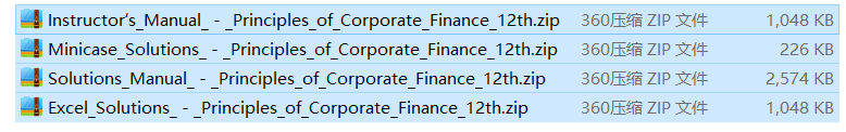 solution manual for Principles of Corporate Finance 12th Edition的图片 2