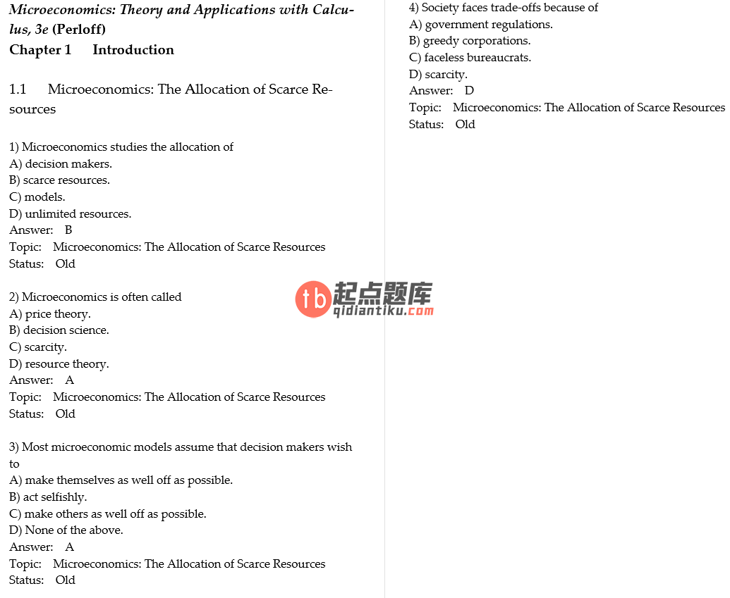 test bank for Microeconomics: Theory and Applications with Calculus 3rd Edition的图片 3