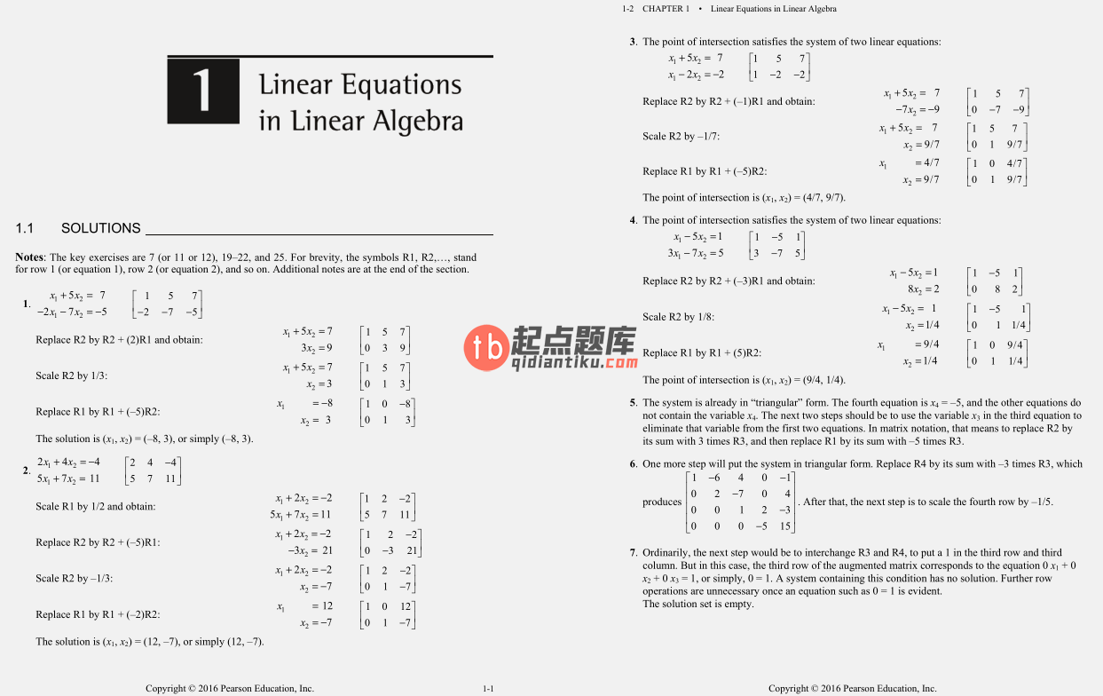 solution manual for Linear Algebra and Its Applications 5th Edition的图片 3
