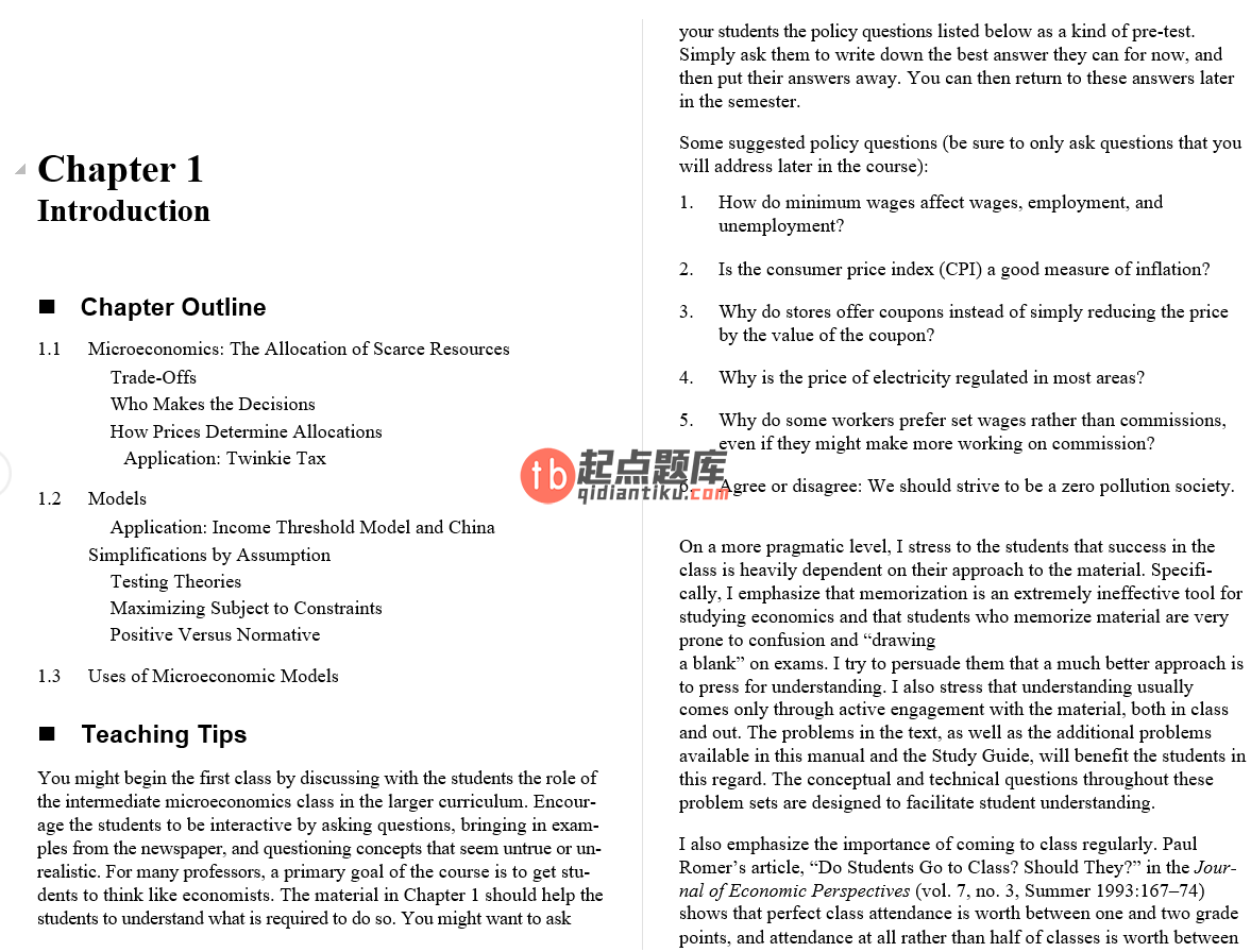 solution manual for Microeconomics: Theory and Applications with Calculus 3rd Edition的图片 3