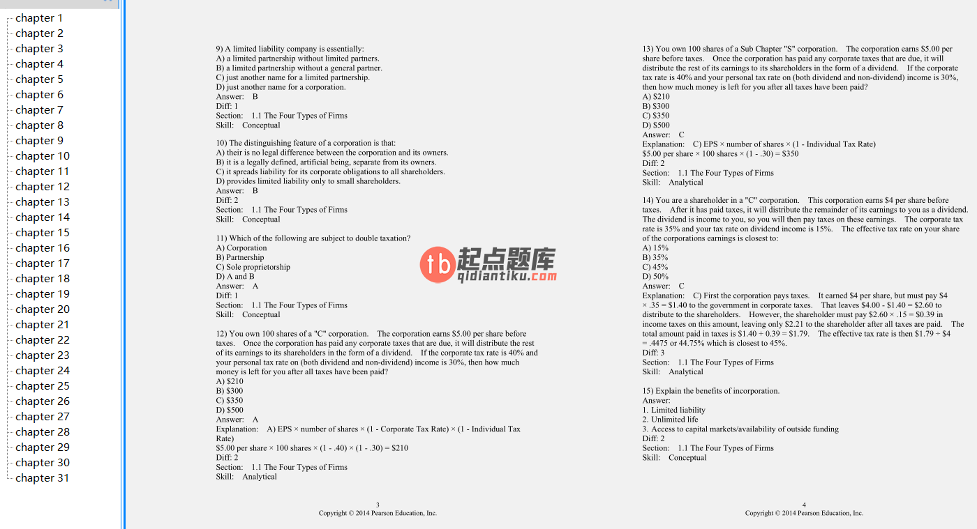 test bank for Corporate Finance 3rd Edition的图片 3
