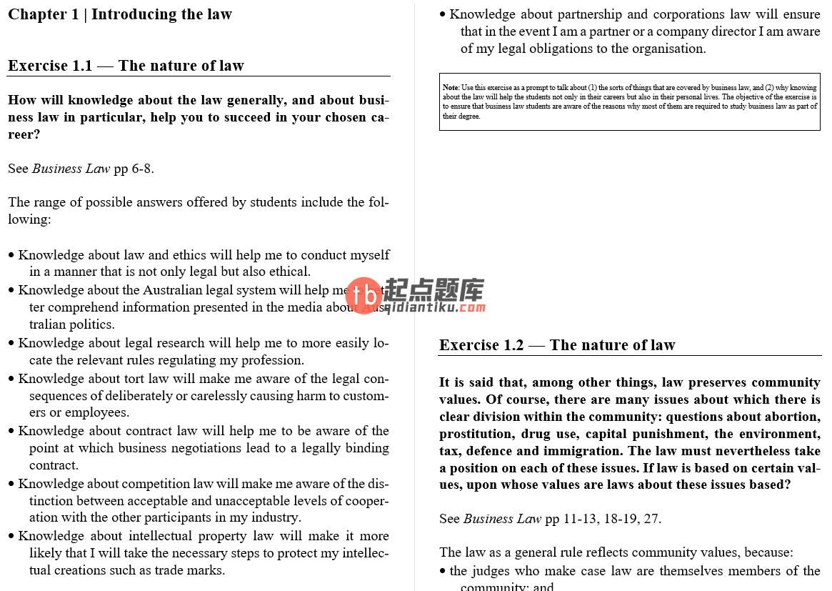 solution manual for Business Law 3rd Edition的图片 3