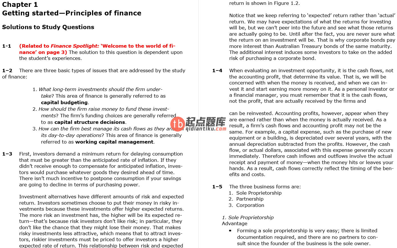 solution manual for Financial Management: Principles and Applications 7th Edition的图片 3