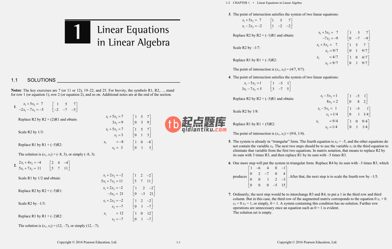 solution manual for Linear Algebra and Its Applications 5th Global Edition的图片 3