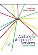 solution manual for Auditing And Assurance Services In Australia 6th Edition