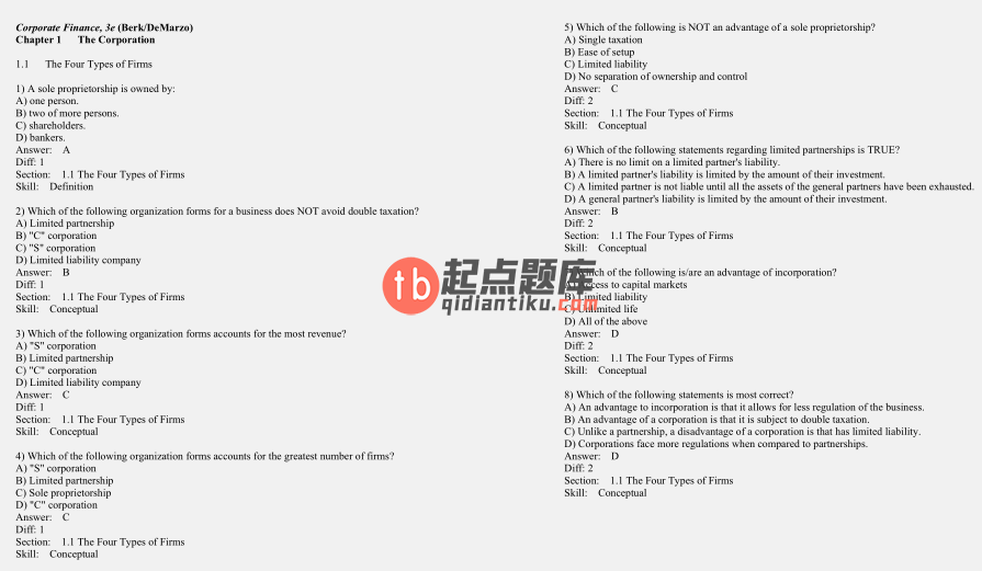test bank for Corporate Finance 3rd Edition的图片 2