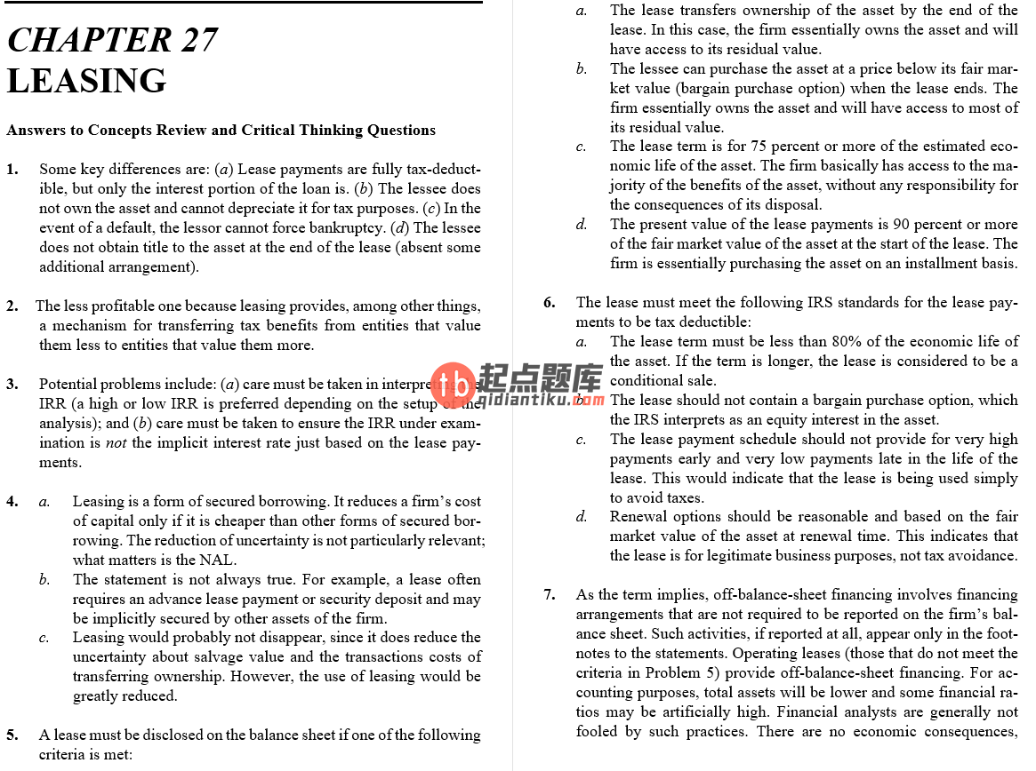 solution manual for Fundamentals of Corporate Finance 10th Alternate Edition的图片 3