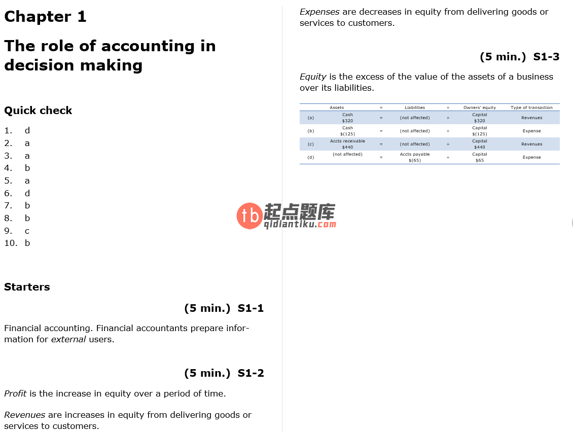 solution manual for Horngren's Financial Accounting 8th Edition的图片 3