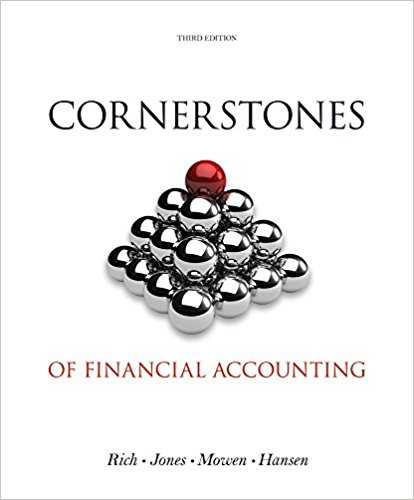 solution manual for Cornerstones of Financial Accounting 3rd edition的图片 1