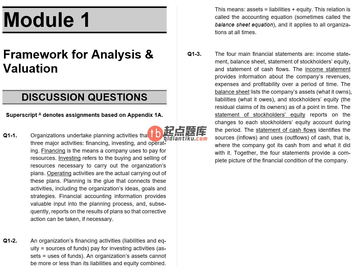 solution manual for Financial Statement Analysis and Valuation 4th Edition的图片 3