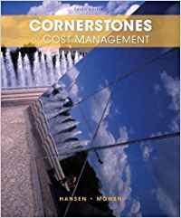 test bank for Cornerstones of Cost Management 3rd edition的图片 1