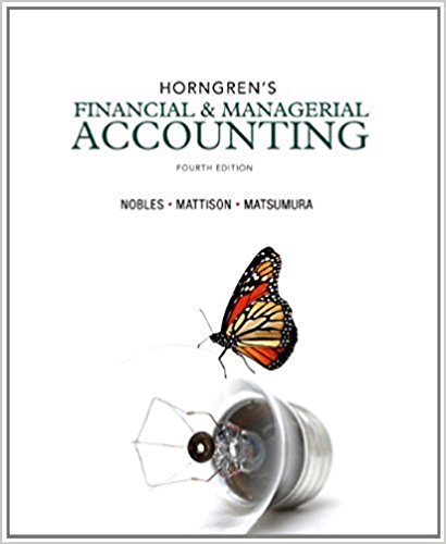 solution manual for Horngren's Financial & Managerial Accounting 4th Edition的图片 1