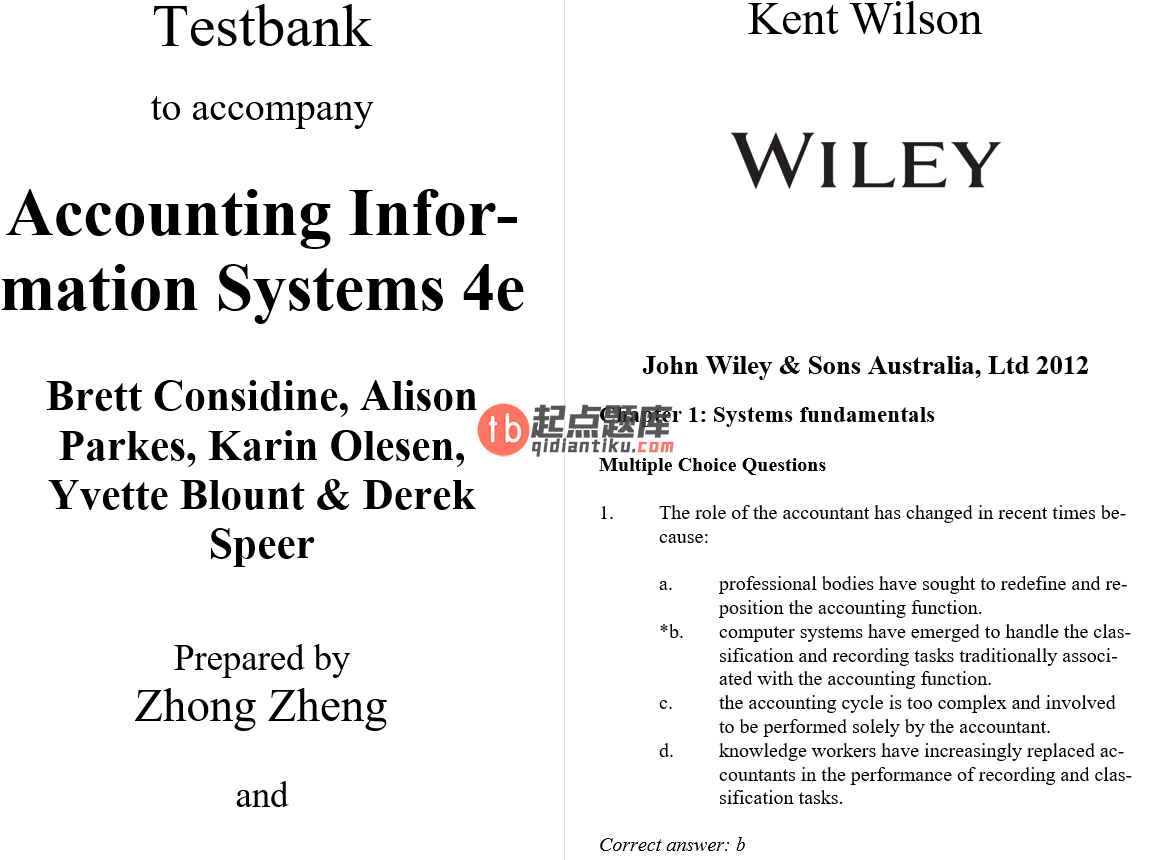 test bank for Accounting Information Systems: Understanding Business Processes 4th Edition的图片 3