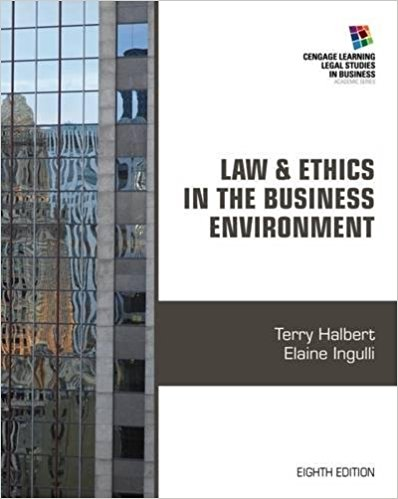 test bank for Law and Ethics in the Business Environment 8th Edition的图片 1