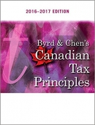solution manual for Byrd & Chen's Canadian Tax Principles 2016 – 2017 Edition
