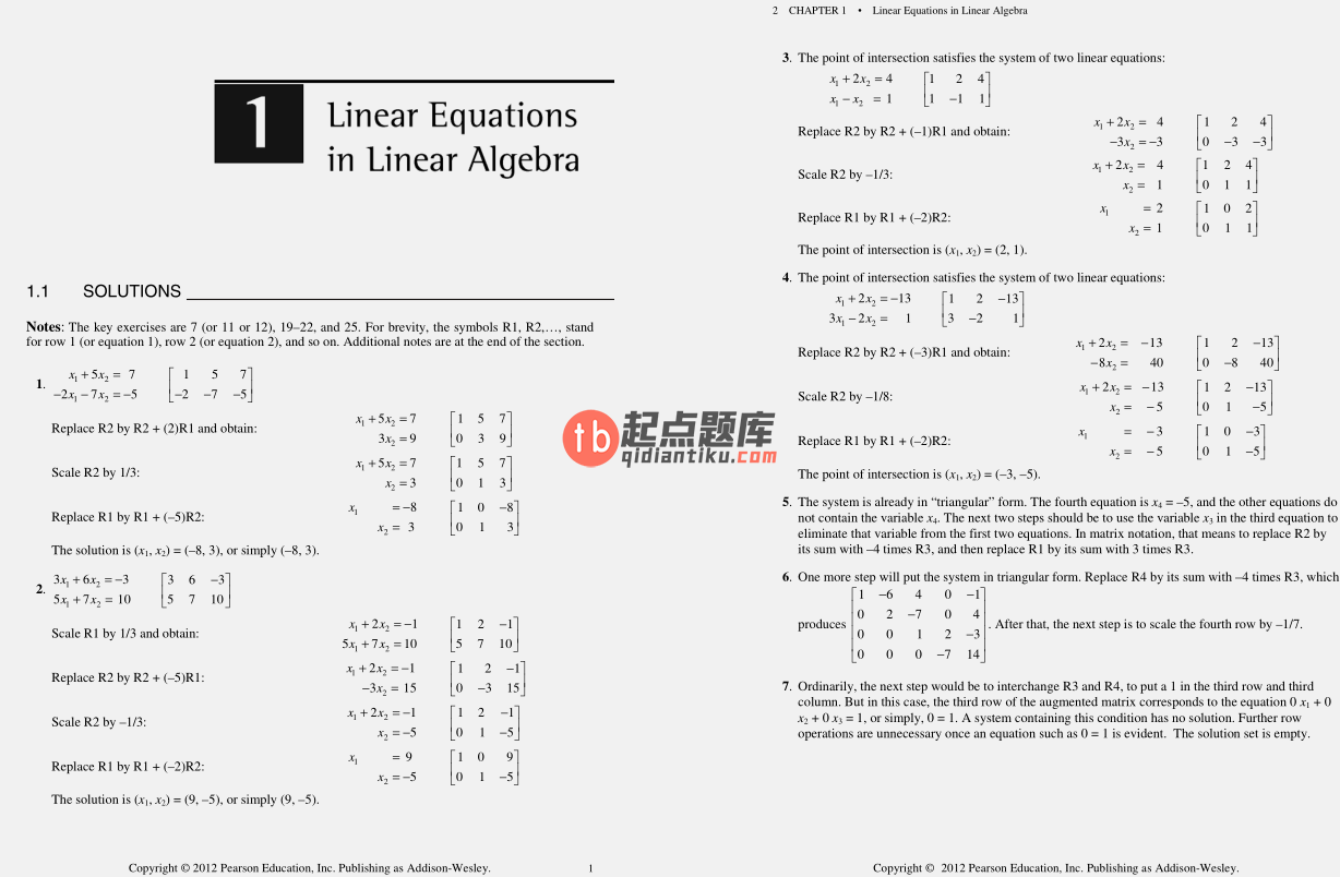 solution manual for Linear Algebra and Its Applications 4th Edition的图片 3
