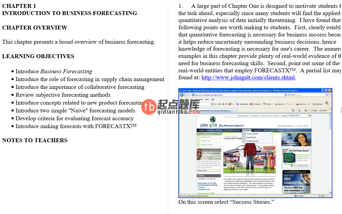 solution manual for Business Forecasting with Business ForecastX 6th Edition的图片 3