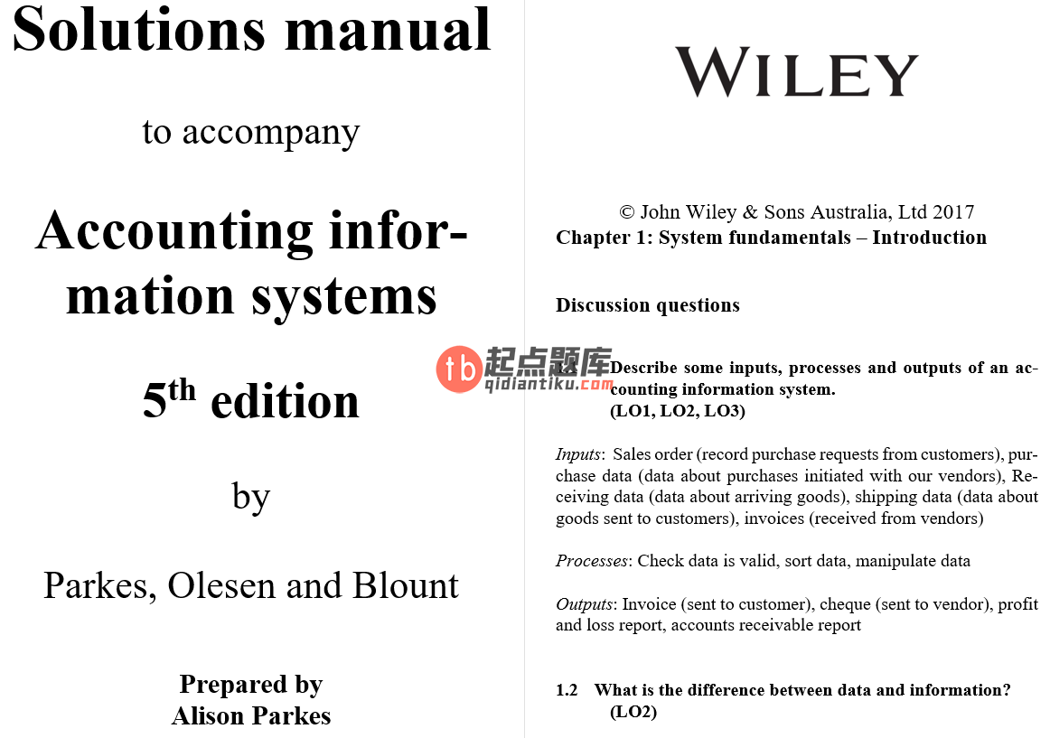 solution manual for Accounting Information Systems 5th Edition的图片 3