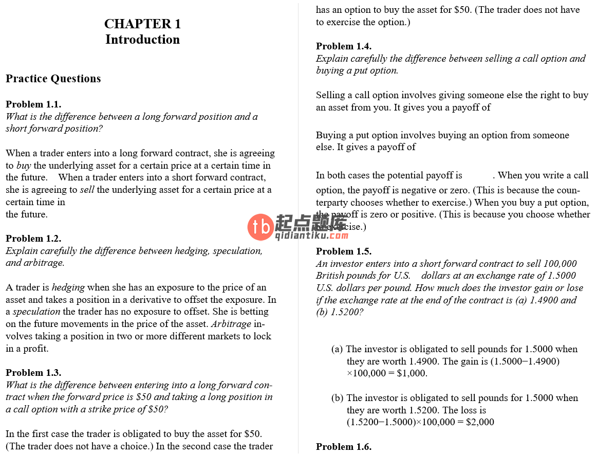 solution manual for Options, Futures, and Other Derivatives 10th Edition的图片 4