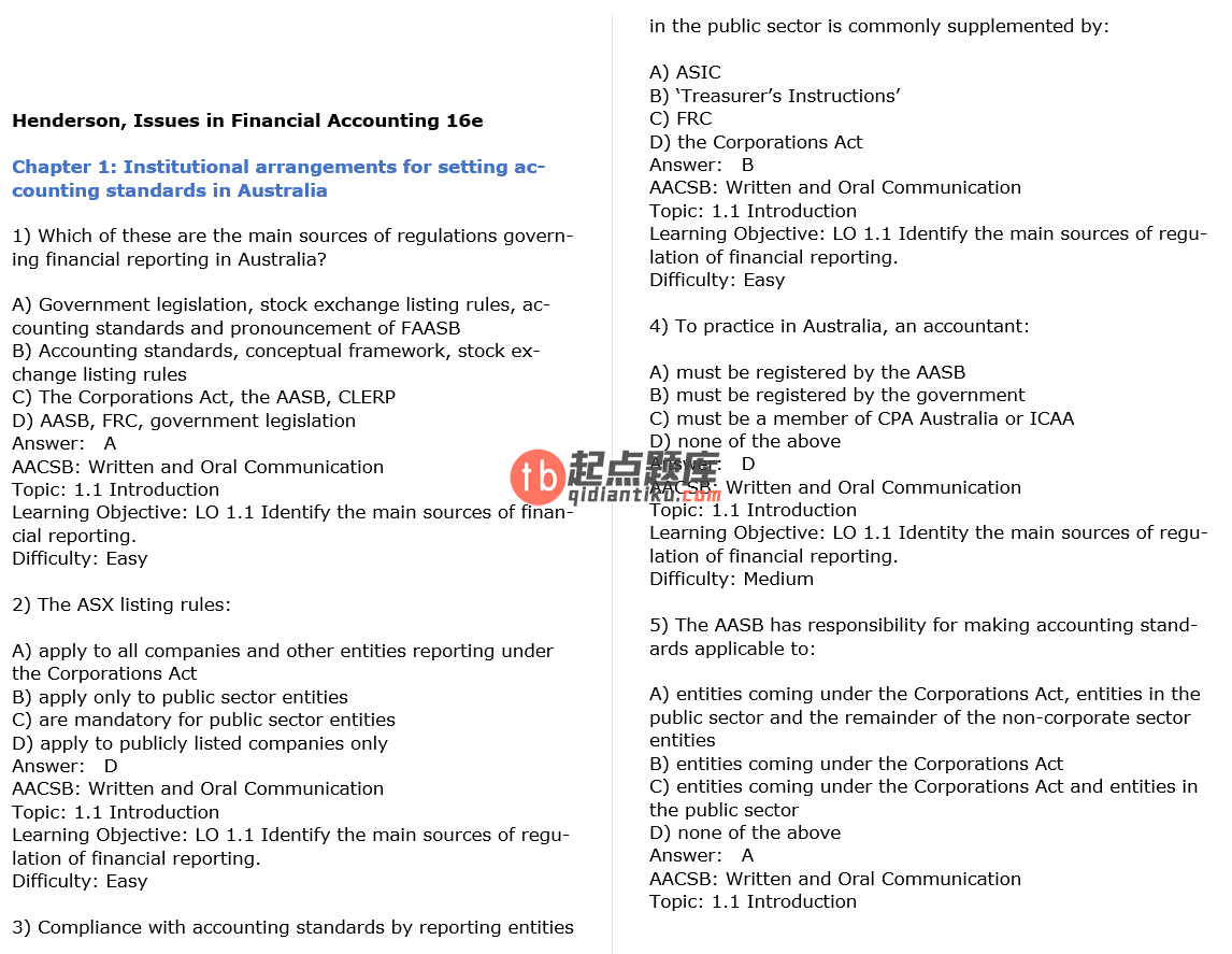 test bank for Issues in Financial Accounting 16th edition的图片 3