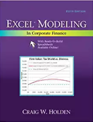 solution manual for Excel Modeling in Corporate Finance 5th Edition的图片 1