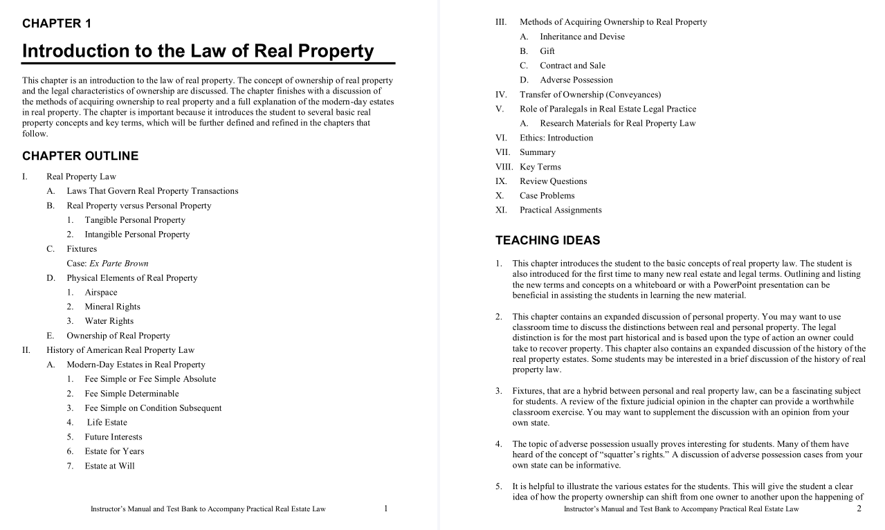 solution manual for Practical Real Estate Law 7th Edition的图片 3