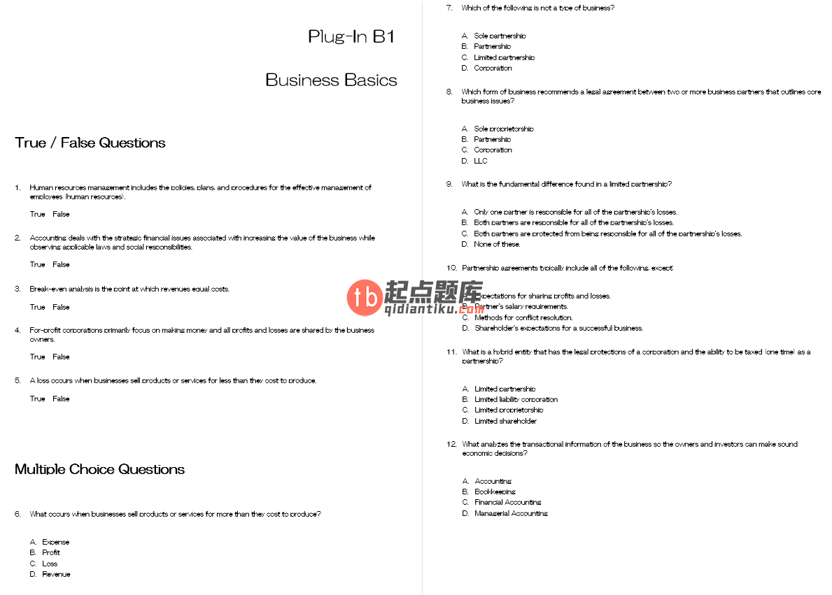 test bank for Business Driven Technology 7th Edition的图片 3