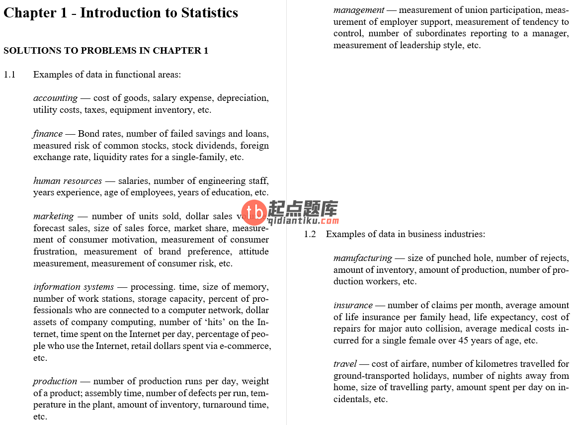 solution manual for Australasian Business Statistics 3rd Edition的图片 3