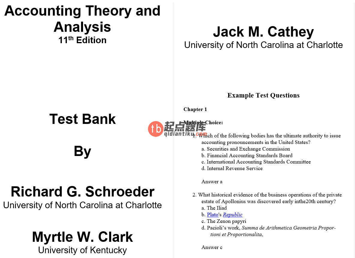 test bank for Financial Accounting Theory and Analysis: Text and Cases 11th Edition的图片 3
