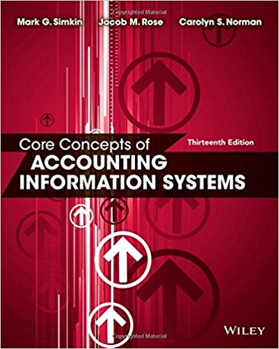 solution manual for Core Concepts of Accounting Information Systems 13th Edition的图片 1