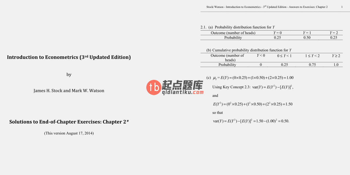 solution manual for Introduction to Econometrics Update 3rd Global Edtion的图片 3