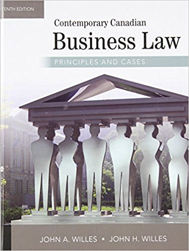 test bank for Contemporary Canadian Business Law: Principles and Cases 10th Edition的图片 1
