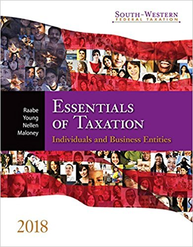 test bank for South-western Federal Taxation 2018: Essentials of Taxation: Individuals and Business Entities 21st Edition的图片 1