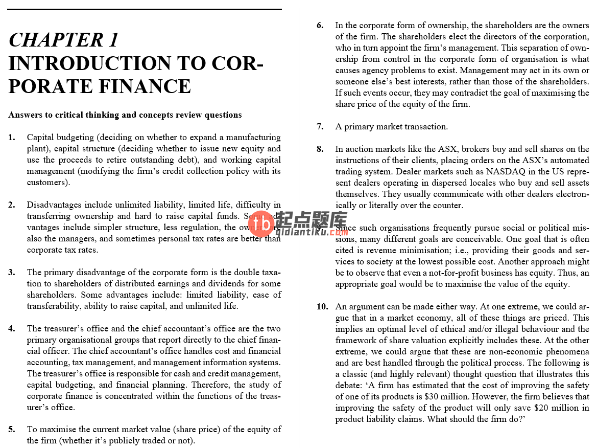 solution manual for Essentials of Corporate Finance 3rd Australian edition的图片 3