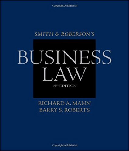 test bank for Smith and Roberson's Business Law 15th Edition的图片 1