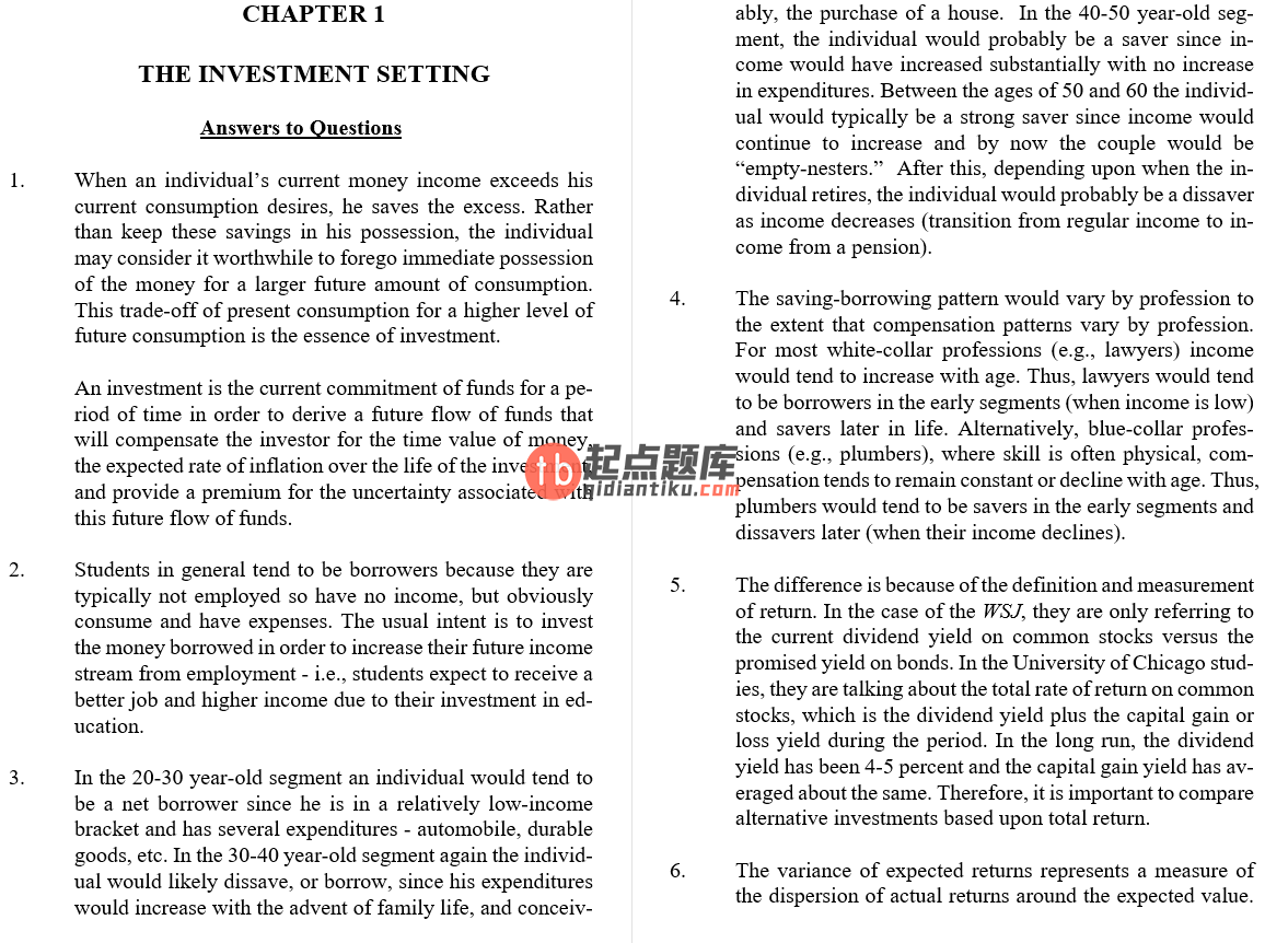 solution manual for Investment Analysis and Portfolio Management 10th Edition的图片 3