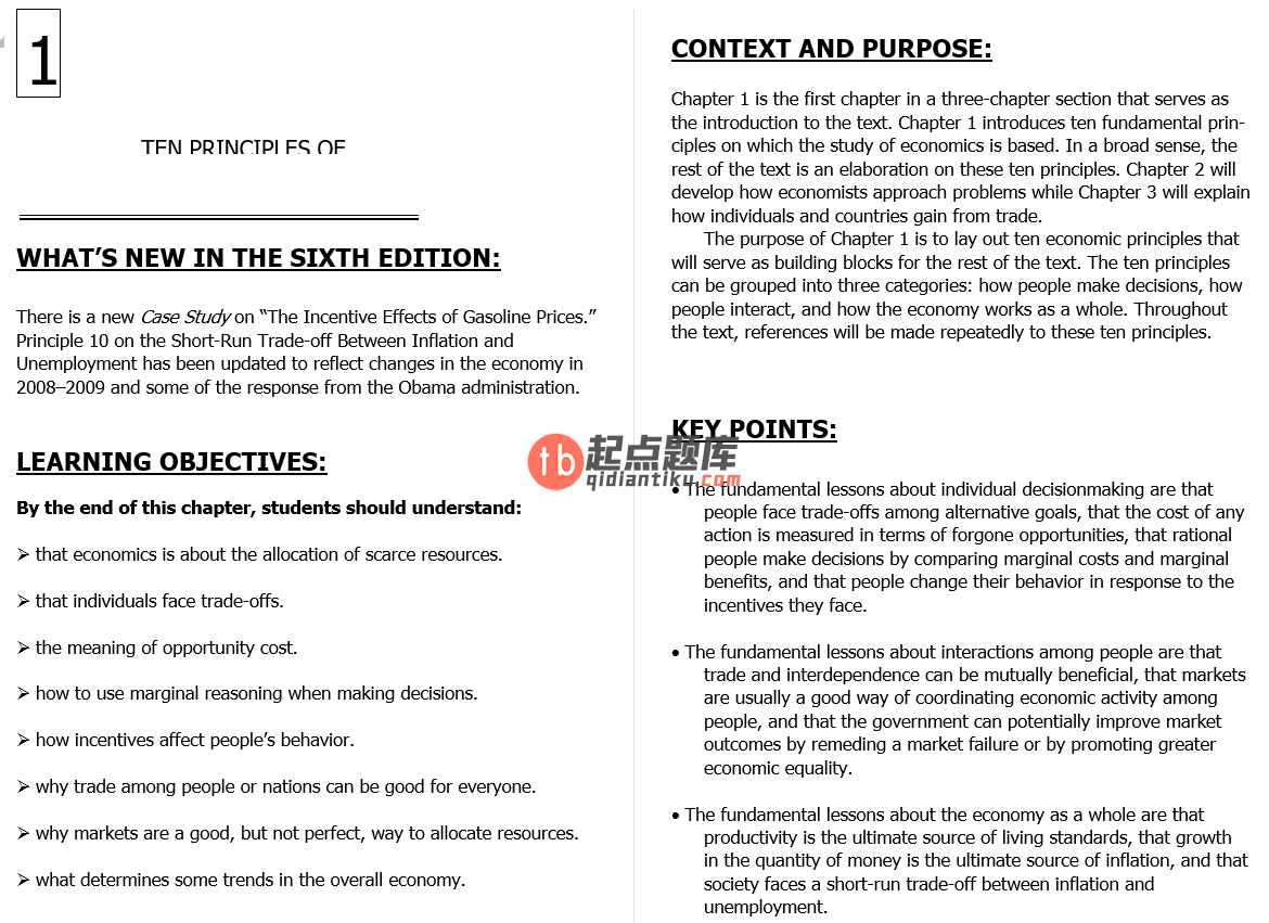 solution manual for Principles of Economics 6th Edition的图片 3