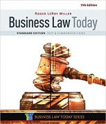 test bank for Business Law Today Standard: Text & Summarized Cases 11th Edition