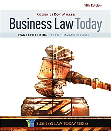solution manual for Business Law Today Standard: Text & Summarized Cases 11th Edition的图片 1