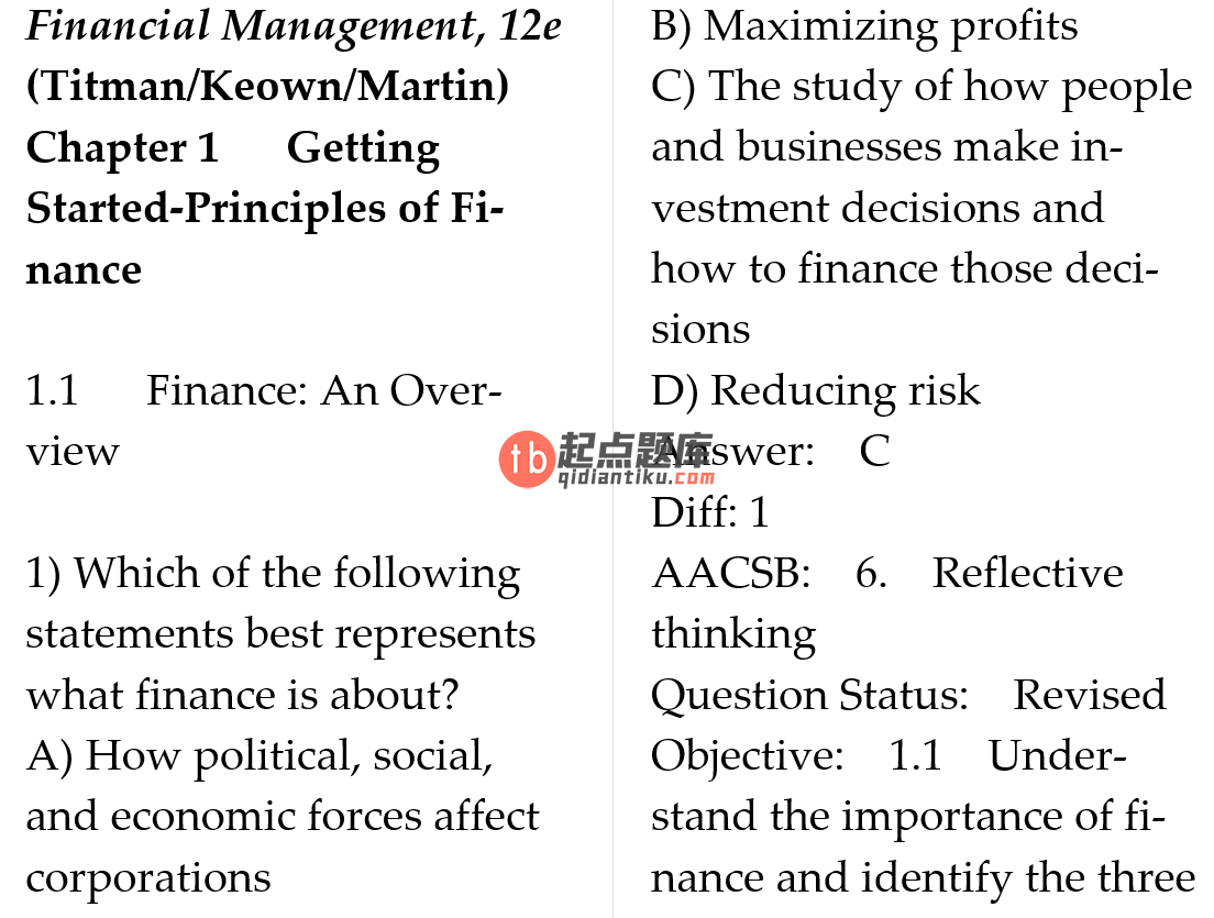 test bank for Financial Management: Principles and Applications 12th Edition的图片 3